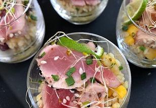 Koud hapje met tonijn