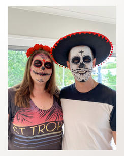Day of the Dead make-up for a party