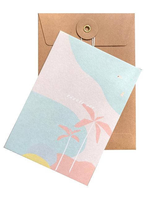 "Postkarte ""Choose Joy"""