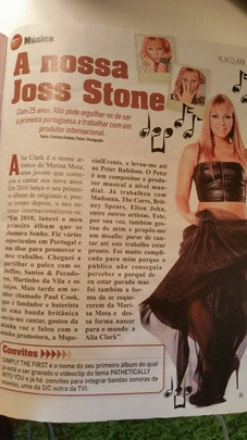 Alia Clark Featured in Portuguese Magazine