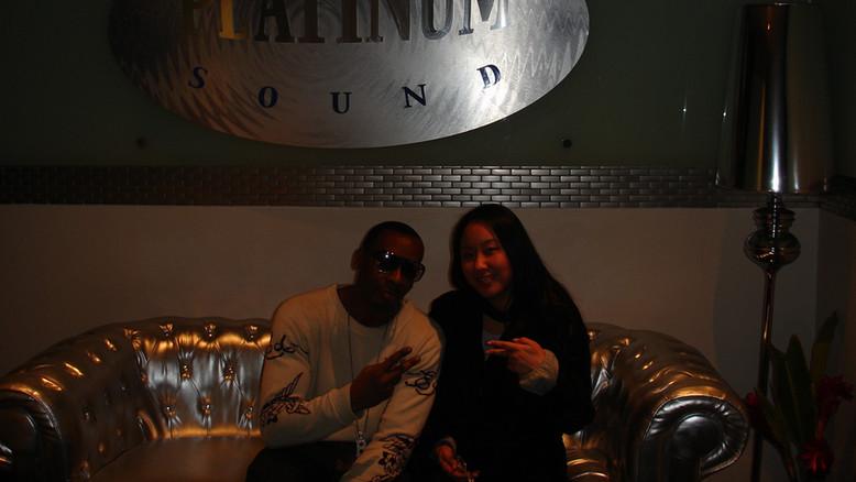 With Producer Bernard Malik at Platinum Sounds