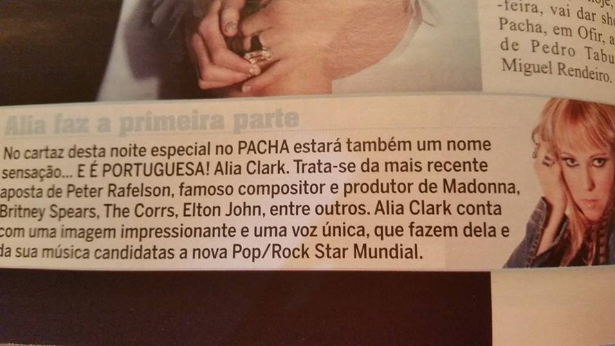 Alia Clark Featured in Portuguese Magazine