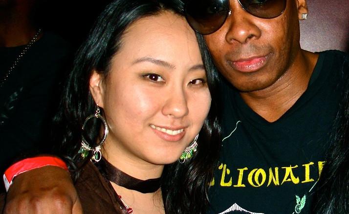 With Producer Bernard Malik