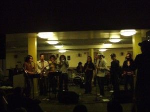 Performing at the Berklee Cafe Show