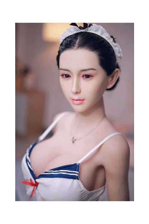 Realistic Asian TPE Sex Doll Head with Life Like Facial Features