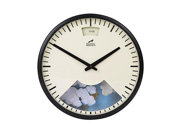 Bramwell Brown Weather Clock Black