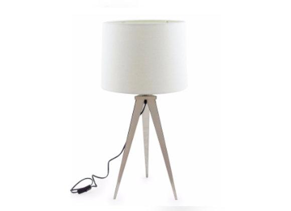 Chrome tripod table lamp