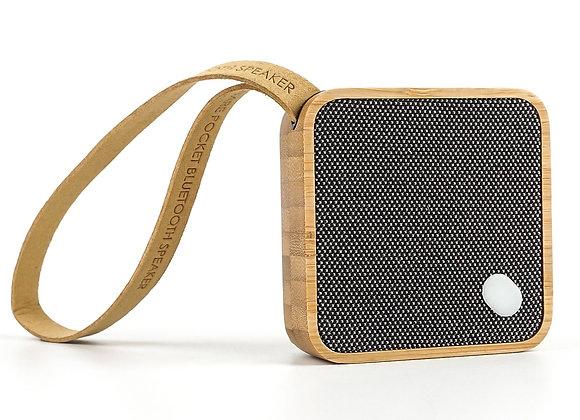 Gingko MI Square Pocket Speaker - Bamboo