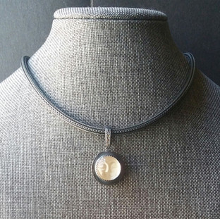 Moon Face Necklace