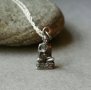 Silver Tiny Buddha Pendant