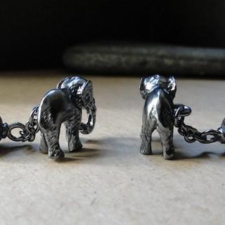 Silver Tiny Elephant Cufflink