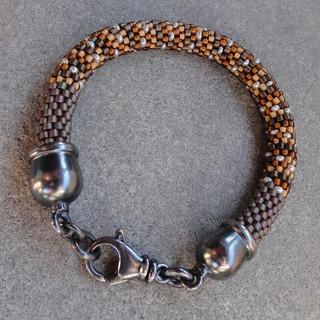 Crochet Bracelet With Oxidized Clasp