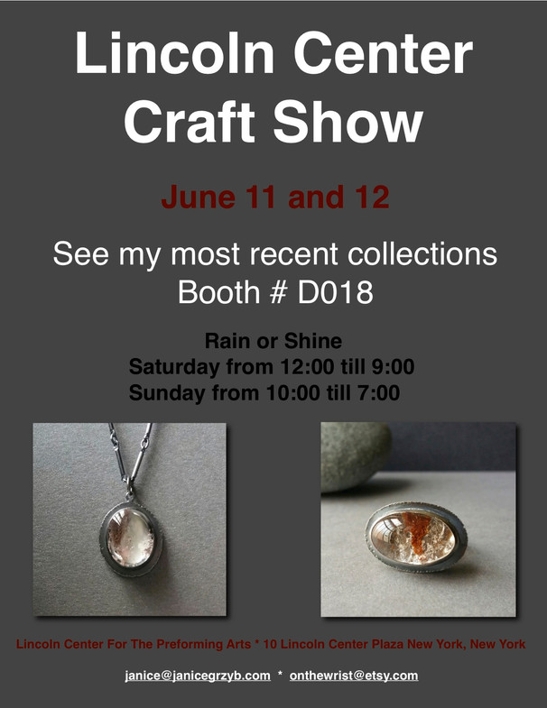 Lincoln Center Craft Show June 11 and 12.