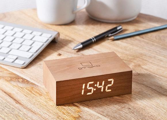 Gingko Flip Click Clock - Cherry