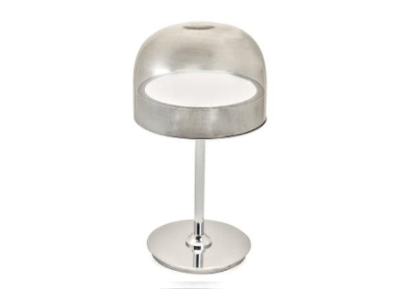 Chrome Smoked Glass Desk Light