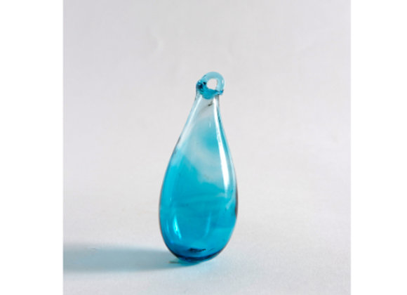 Hand Blown Glass Tear - Turquoise