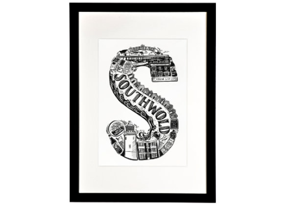 Lucy Loves This: Southwold Print (framed)
