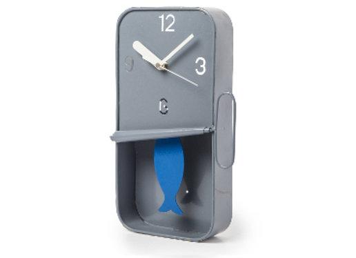 Sardine Clock: Grey & Blue