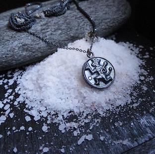 Oxidized Silver Shri Hanuman Necklace Pendant