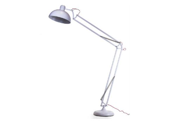 White Matt Giant Classic Desk Style Floor Lamp