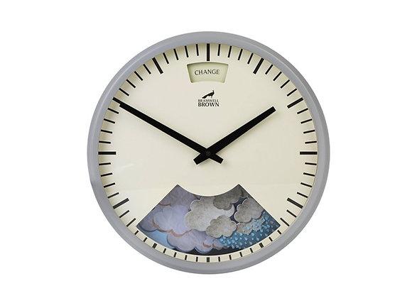 Bramwell Brown Weather Clock Grey