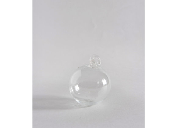 Hand Blown Glass Bauble - Clear