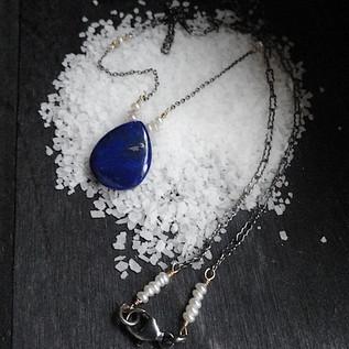 Lapis Pearl Pendant