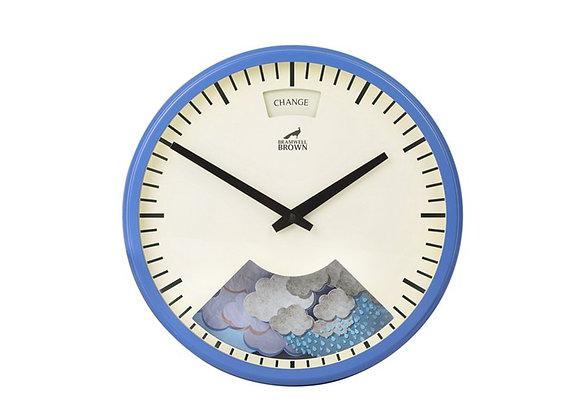 Bramwell Brown Weather Clock Blue