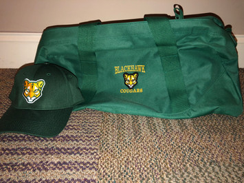 Blackhawk Duffle Bag and Embroiderd Hat