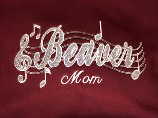 Glitter Twill Beaver Mom Hoodie