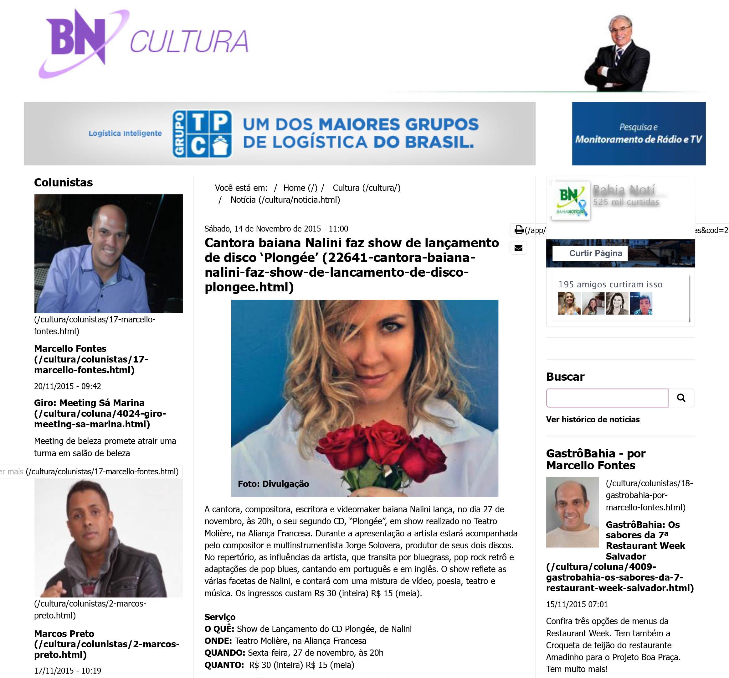 2015-11-20 Bahia Noticias Cultura