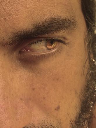 Olho para você