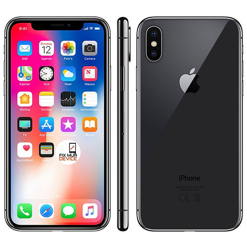 Refurbished iPhone X Zwart - 64 GB A Grade