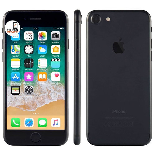 Refurbished iPhone 7 Zwart - 128 GB A Grade