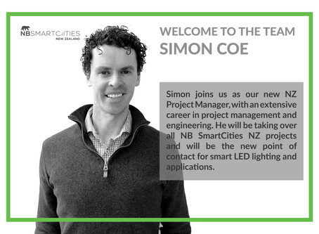 WELCOMING SIMON COE TO THE NB SMARTCITIES NZ TEAM
