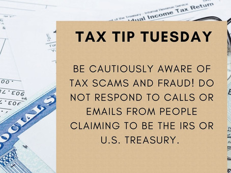 ⚠️ Be Cautiously Aware of Tax Scams and Fraud this year!