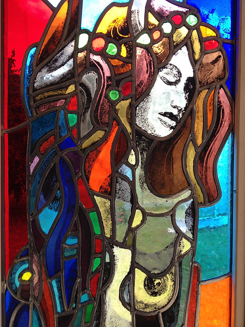 Femme, 2012, vitrail Atelier Pascal Moret, Nicolas Ruffieux