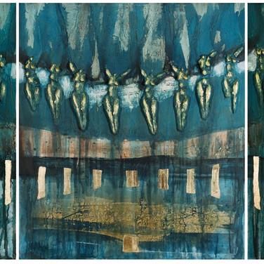 Falaises, 2007, triptyque 3x (80x90cm), Nicolas Ruffieux