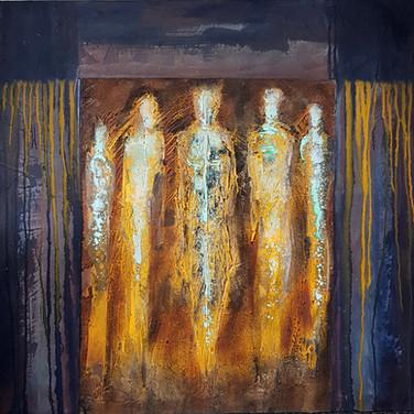 Silhouettes, 2015, 100x100cm, Nicolas Ruffieux
