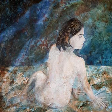Femme assise, 2001, 70x80cm, Nicolas Ruffieux