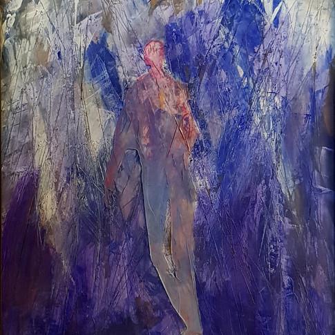 (Winterreise) Mut, 1994, 60x70cm, Nicolas Ruffieux