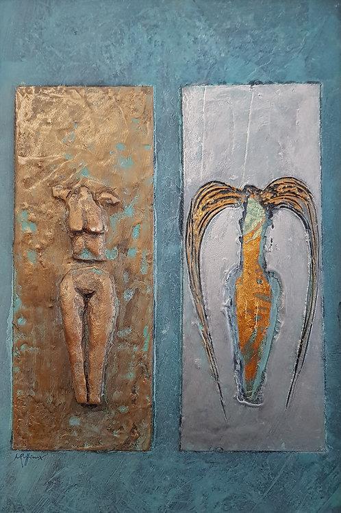 Ange ou démon IV, 2011,   40x60,Nicolas Ruffieux