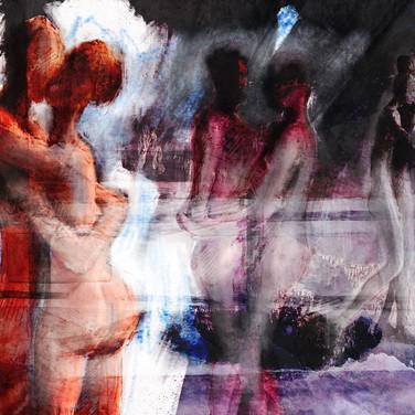 Danse, 2015, estampe numérique, 40x30cm, Nicolas Ruffieux