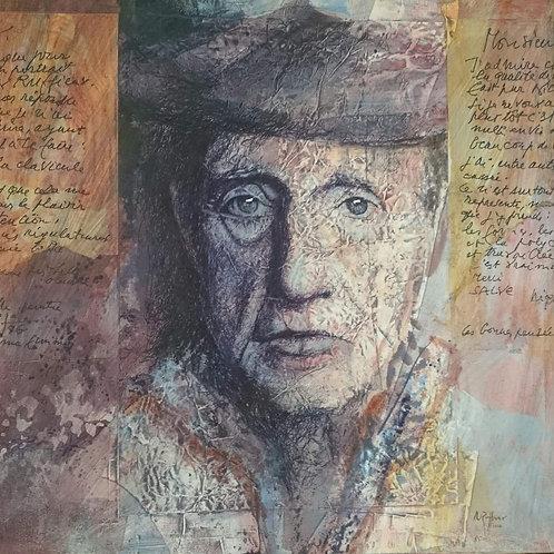 Portrait du peintre Niquille, 2016, 50x50cm, Nicolas Ruffieux