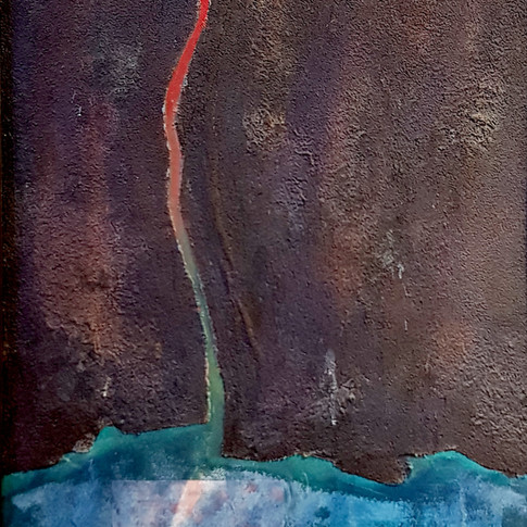 (Winterreise)Irrlicht,1994,   60x70cm, Nicolas Ruffieux