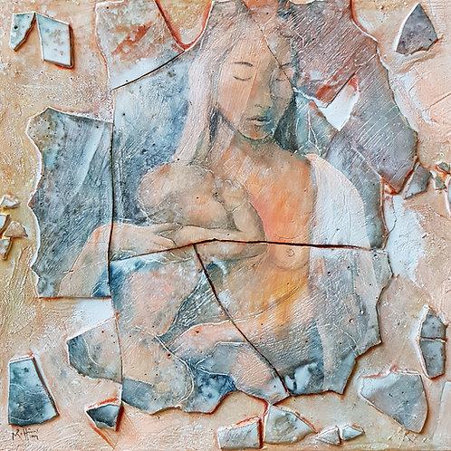 Michel-ange, 2004,  40x40cm, Nicoolas Ruffieux