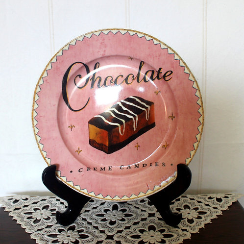 Chocolate Creme Candies Ceramic Plate