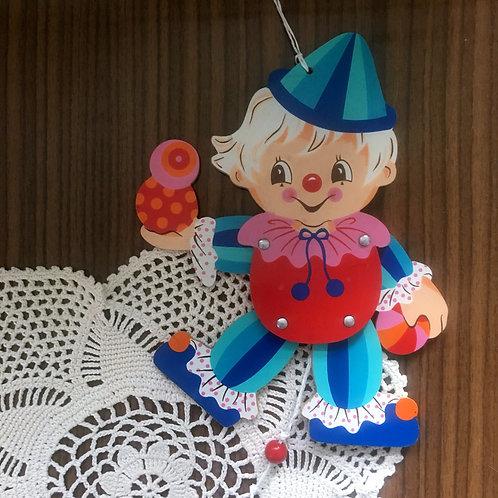 Vintage  Mertens-Kunst  Wooden Clown Jumping Jack