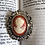 Thumbnail: Victorian Cameo In Faux Silver Frame Brooch