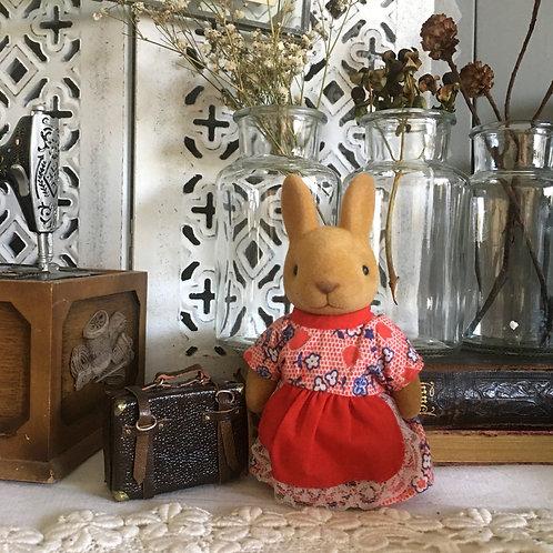 70-80s 紅裙兔擺設